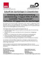 EInladung BürgerVersammlung SPD und B90/Die Grünen