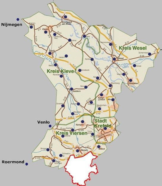 Karte Niederrhein.Bürgerzeitung Für Mönchengladbach Und Umland 1 0 2010 April