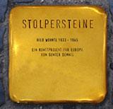 Stolperstein (Muster); Quelle: www.moenchengladbach.de; Foto: Uta Franke